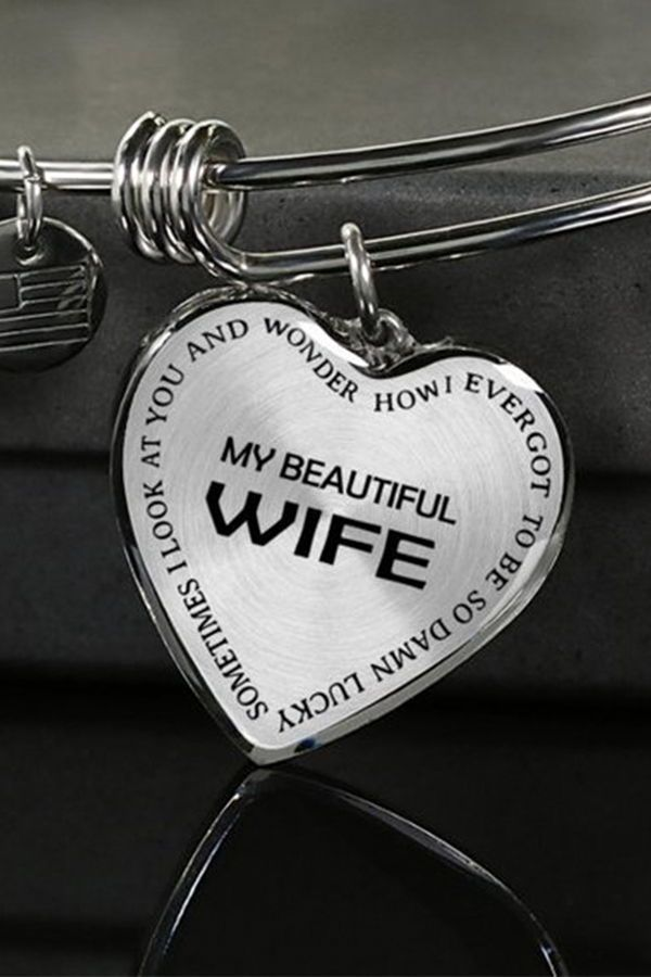 Beautiful To My Wife Necklace From Husband Best Gift For Birthday Graduation Military We Christmas Gifts For Wife Gifts For My Wife Birthday Gift For Wife