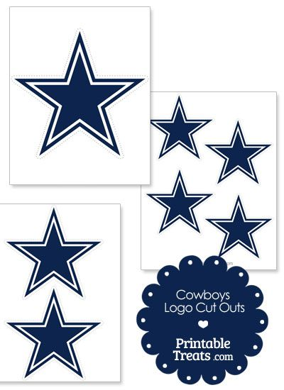Printable Cowboys Logo Cut Outs from PrintableTreats.com