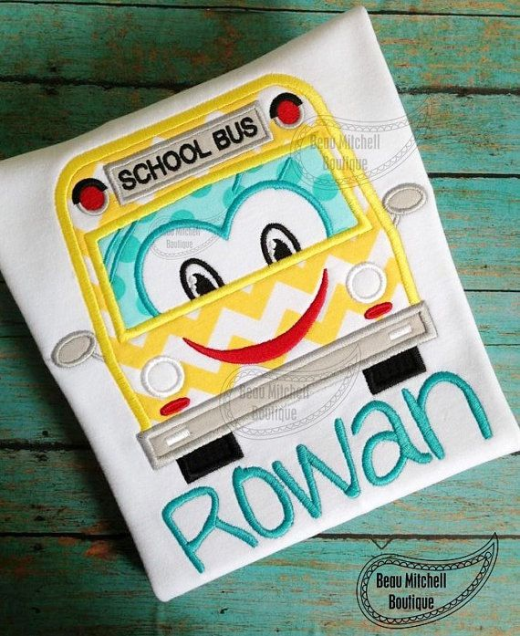 Personalized School Bus Applique Shirt - Perfect Back to School Shirt by RockintheTutu on Etsy