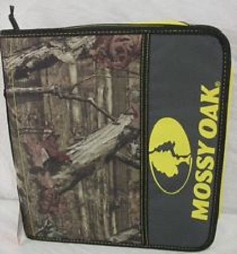 Mossy-Oak-Camo-1-1-2-Inch-3-Ring-Zipper-Binder-Yellow-Orange-Logo-Carry-Handle