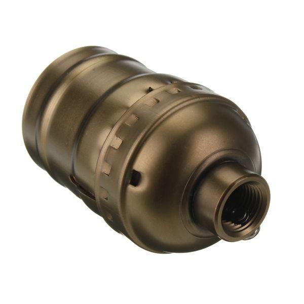 Retro objímka E27 • hliník • staromosádzna, Žiarovky.eu, LED žiarovky, LED pásy, dekoračné žiarovky, Historické svietidlá,