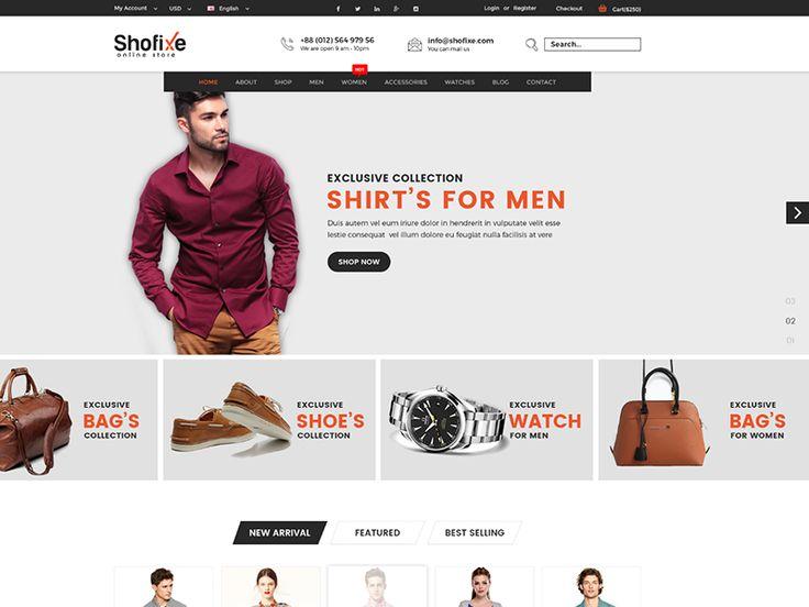 Shofixe – eCommerce Fashion Template by 5 Dollar HTML