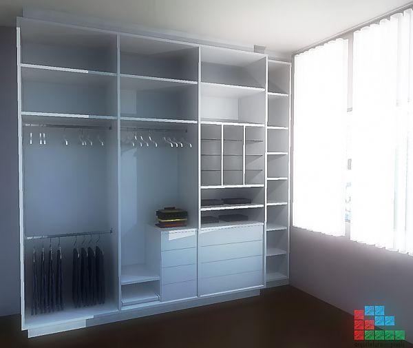 Fotografia de Modelo de divisão interna para armário embutido (marcenaria) por Arquitetura em Pixels #395231.