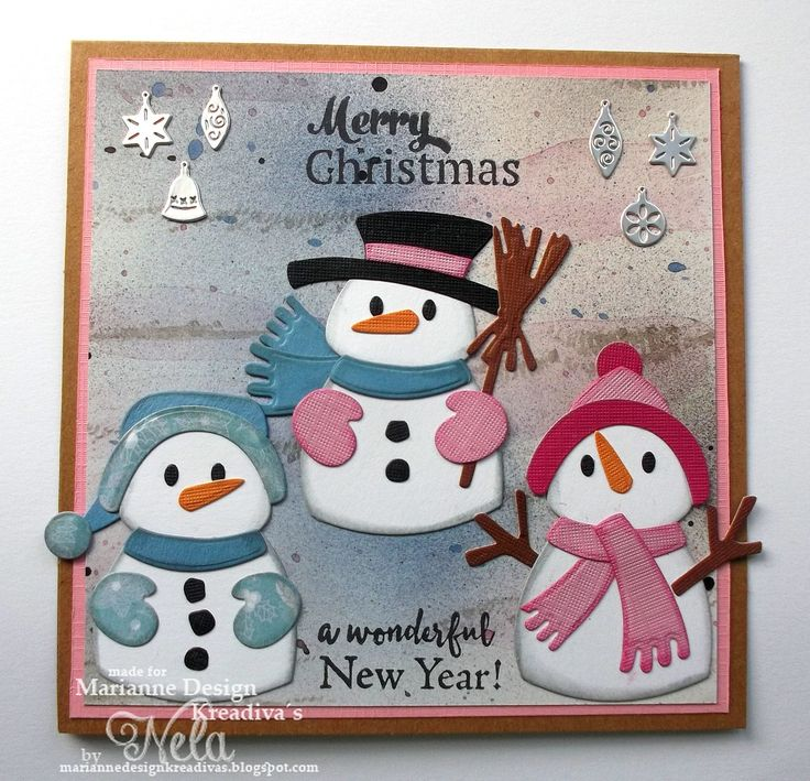 Hallo ihr Lieben!   Ich habe eine neue Stanze und zwar die süssen   Collectables Elines Schneemänner von Marianne Design.   ( COL1413)    ...