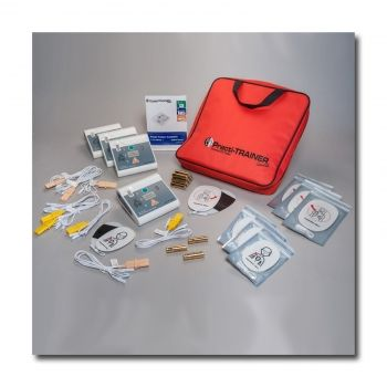 AED Practi-Trainer Essentials,Fully compliant with the new 2010 ECC CPR guidelines, the unit is compatible with any type of CPR manikin that is intended for AED training.WNL's Universal Practi-TRAINER Essentials includes: 4 complete units with 2 pre-programmed scenarios installed      4 sets of child pads and connectors     4 sets of adult pads and connectors     12 AA batteries     1 manual     Zippered, nylon-lined, fabric carrying case with handle     1-year manufacturer's warranty
