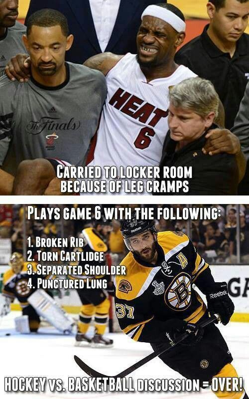Hockey players are tough!