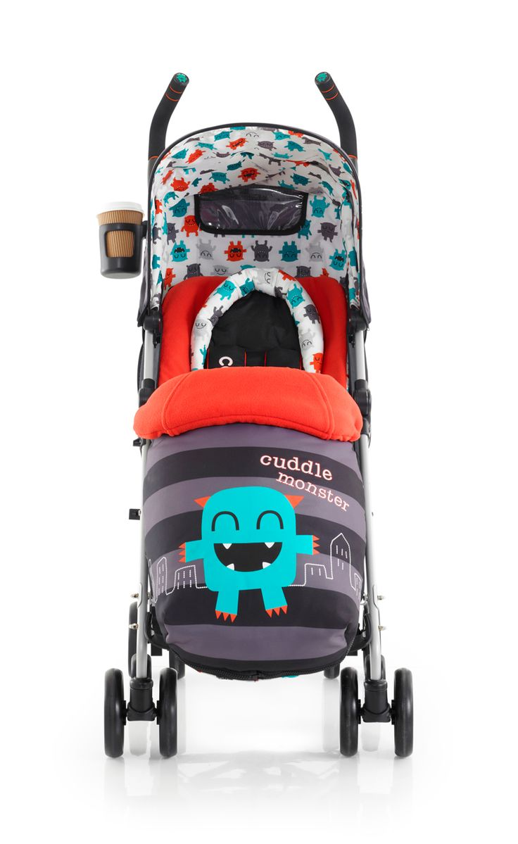 Grrrr -let your little Cuddle Monster rampage through the city in the Supa Pushchair  from Cosatto