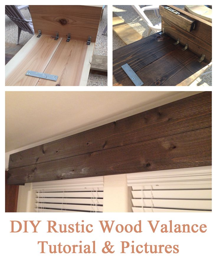 Easy DIY tutorial for creating a rustic wooden valance