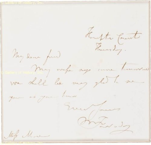 Michael Faraday letter