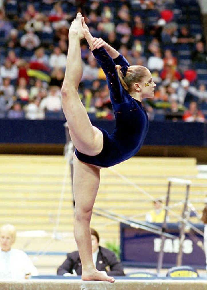 University of Michigan gymnast Calli Ryals     She coached me when I first started gymnastics
