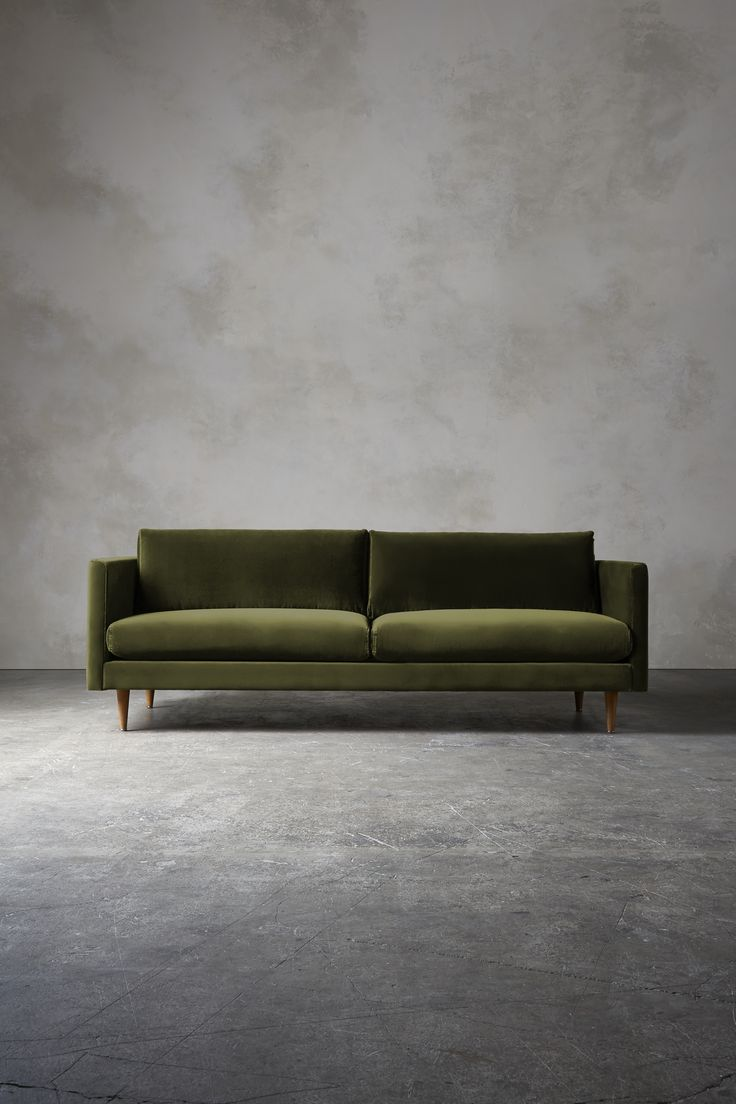The TIVOLI Three-Seater Sofa in Fern Velvet by Swoon editions