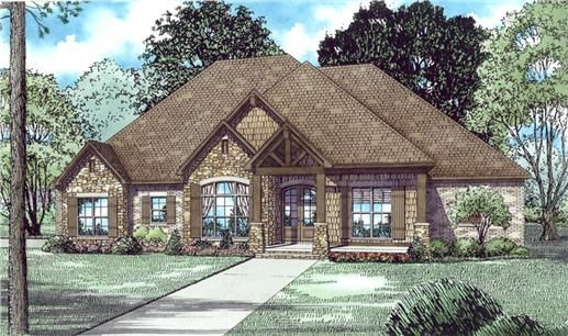 View this 1 story, 3 bedroom, inviting ranch home plan (#153-2019) with Arts and Crafts influences at The Plan Collection.