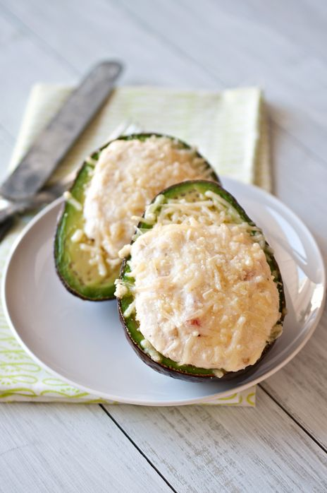 Crab Stuffed Baked Avocado:  holy crap this sounds good, but I might cut back on the cream cheese and substitute something less overwhelming to allow the crab flavor more center stage.