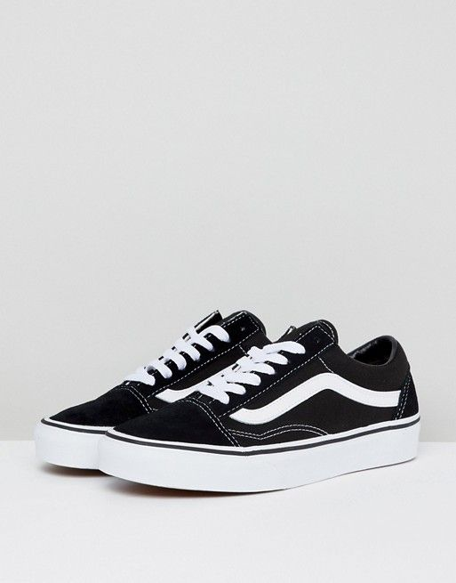 a95452c2add41 Vans Classic Old Skool sneakers in black and white in 2019 | Fashion ...