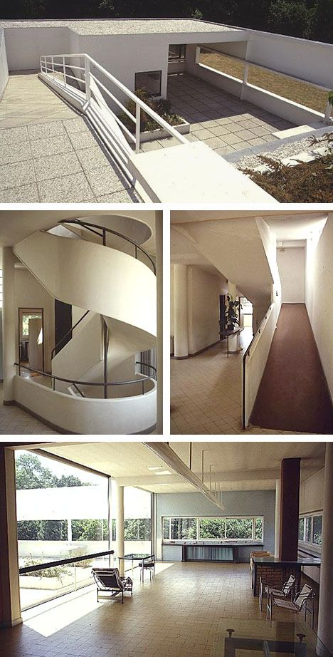 Villa Savoye Interior | Interior of Villa Savoye. Featuring the ideas of the International ...