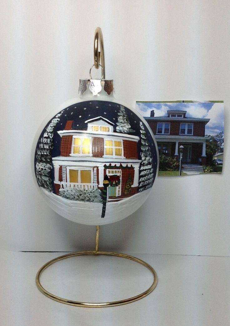 Custom Painted House Ornaments