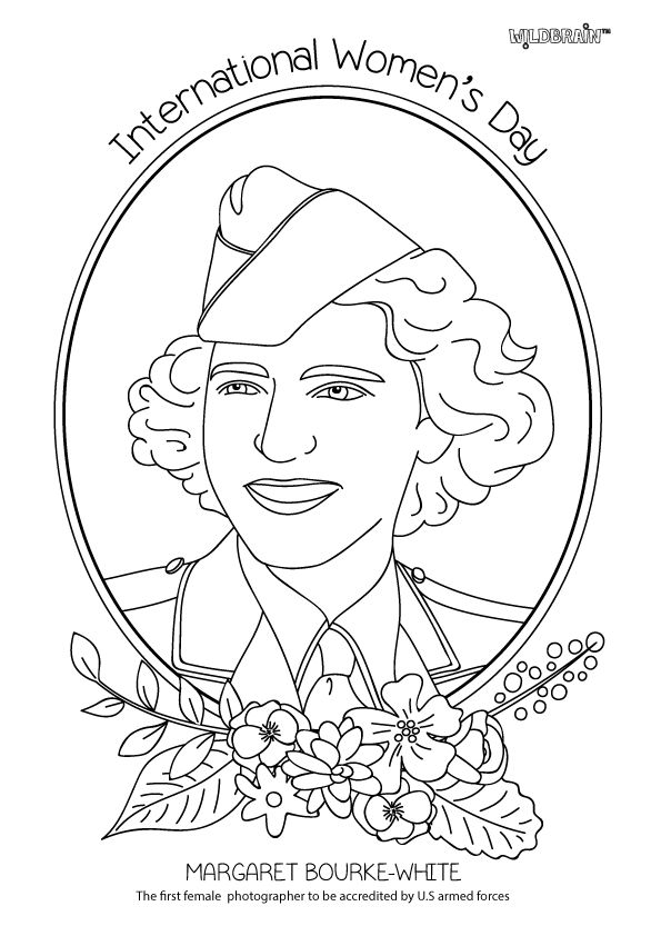 International womens day coloring pages ~ Margaret Bourke-White asserted herself as a war ...