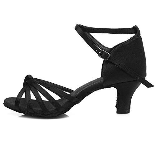 Oferta: 25.99€ Dto: -31%. Comprar Ofertas de HROYL Zapatos de baile/Zapatos latinos de el negro satín mujeres ES5-F17 EU 38 barato. ¡Mira las ofertas!