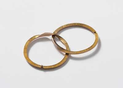 Orafo francese, fede nuziale di Sophie de Fagan, oro, Francia, 1812 circa / French goldsmith, Sophie de Fagan's wedding ring, gold, France, ca. 1812, Gorizia, Palazzo Coronini Cronberg inv. 7543