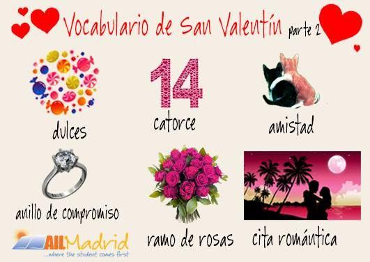 Un poco màs de #vocabularioespañol para un #SanValentín muy romántico