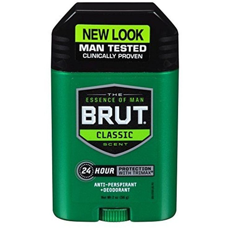 BRUT Antiperspirant Deodorant Stick Classic Scent for Men Hazards 2 Oz, 3-Pack   #Brut