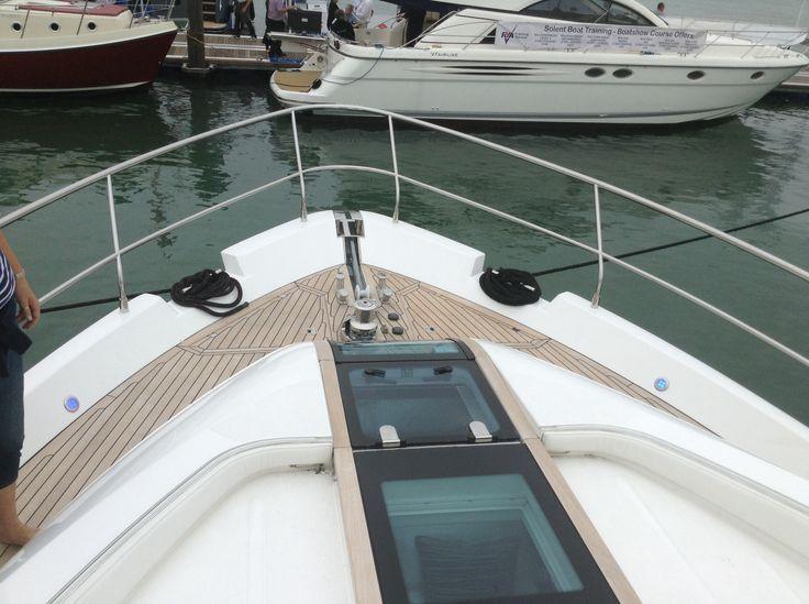 On a big boat