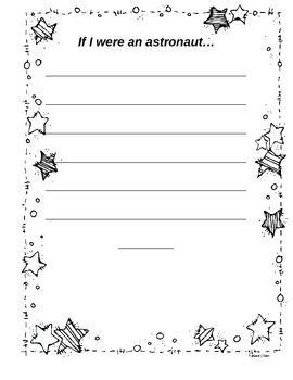 Astronaut writing activity.