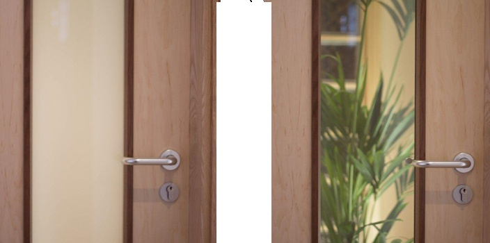 ESG Polyvision™ is an ideal medium to be used in doors for privacy control. Check it out below.