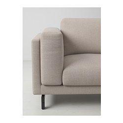 NOCKEBY 3-sits soffa - trä, Tenö ljusgrå - IKEA