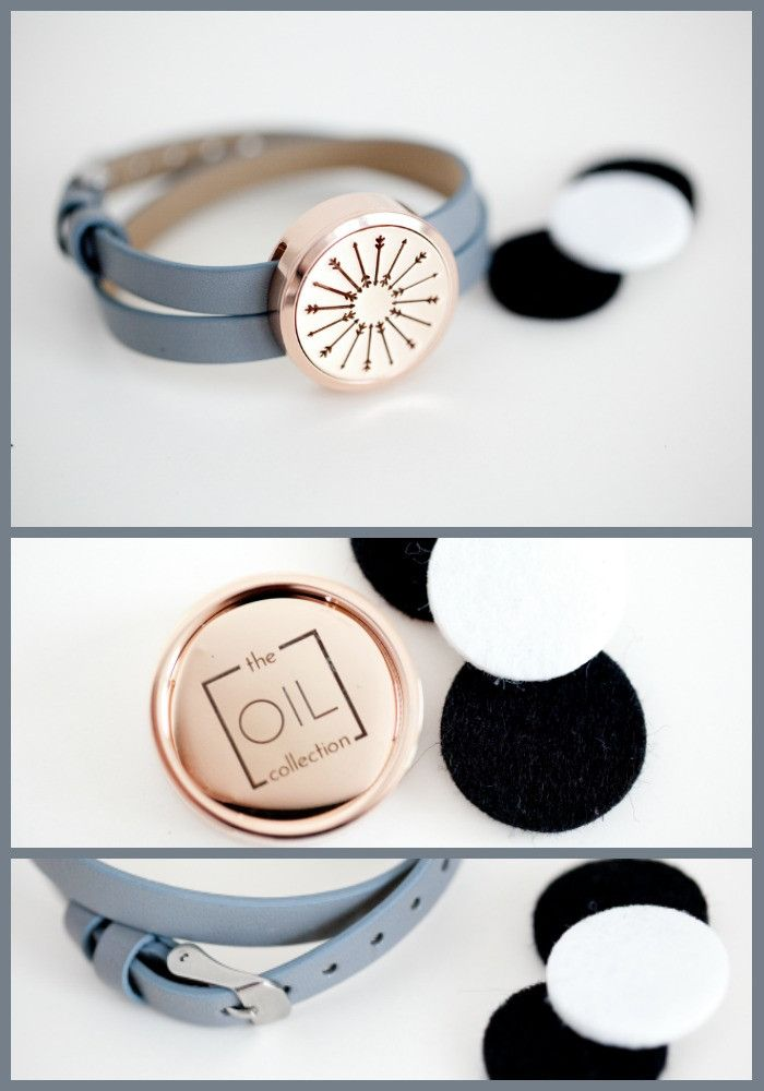 We've added rose gold to our diffuser bracelet collection. Our new limited edition wrap bracelets are made with hypoallergenic stainless steeland leather. The bracelet wraps twice around your wrist and is adjustable. This makes a great gift for an oily friend or keep it for yourself and enjoy the health benefits of your essential oils all day long. From The Oil Collection.