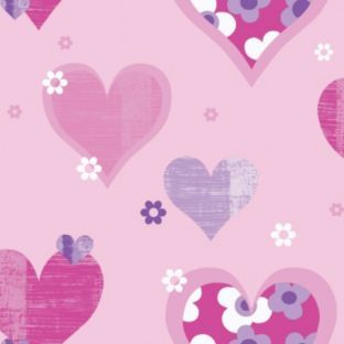 Buy Happy Hearts Wallpaper - Pink at Argos.co.uk - Your Online Shop for Wallpaper, samples, borders and wall stickers #ArgosRoomInspiration