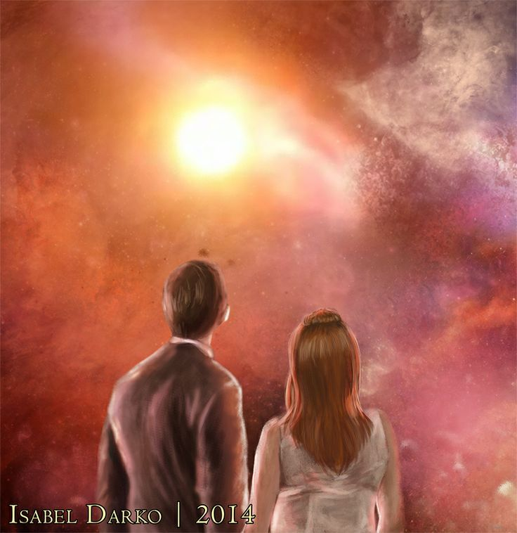 The Doctor and Donna in space