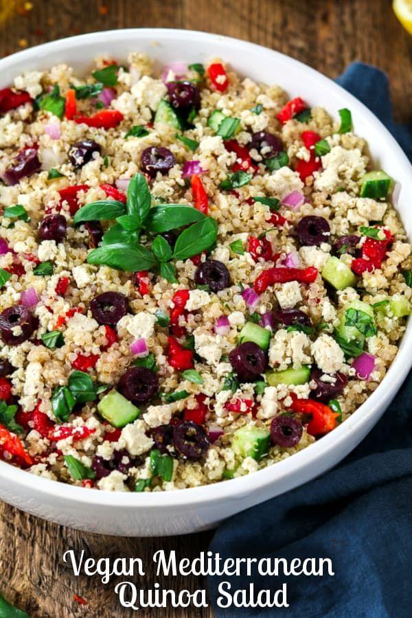 Vegan Mediterranean Quinoa Salad Recipe Vegan Salad Recipes Mediterranean Quinoa Salad Mediterranean Pasta Salads