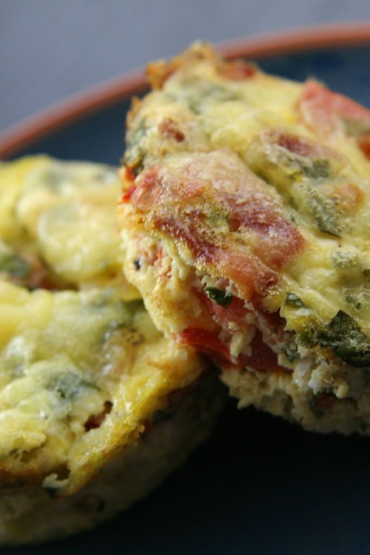 Mini Frittatas Recipe with Ham and Cheese