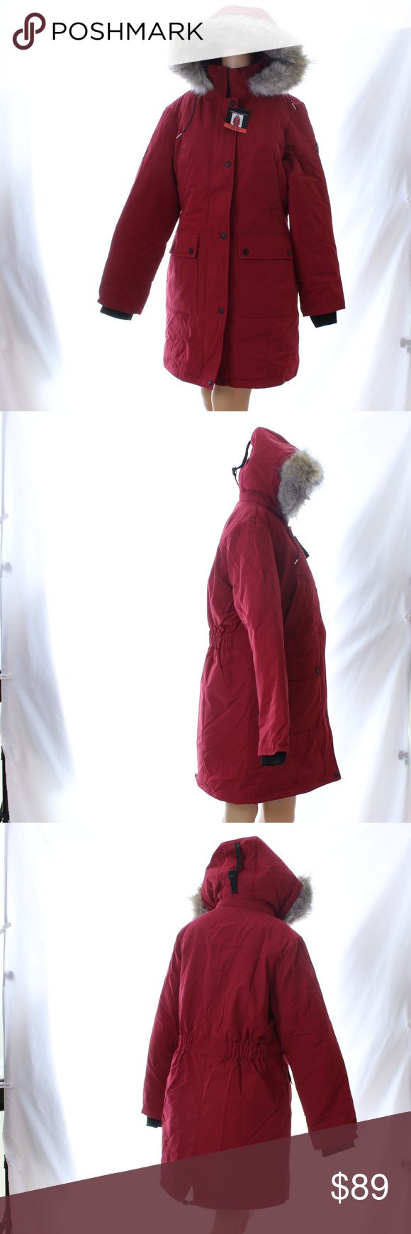 Andrew Marc Quilted Parka Coat Andrew Marc Quilted Parka Coat - Red  New with tag.   Detachable hood.  Fleece neck warmer.  Storm cuffs. Inner smart phone pocket.  Oversized inner pocket. Andrew Marc Jackets & Coats