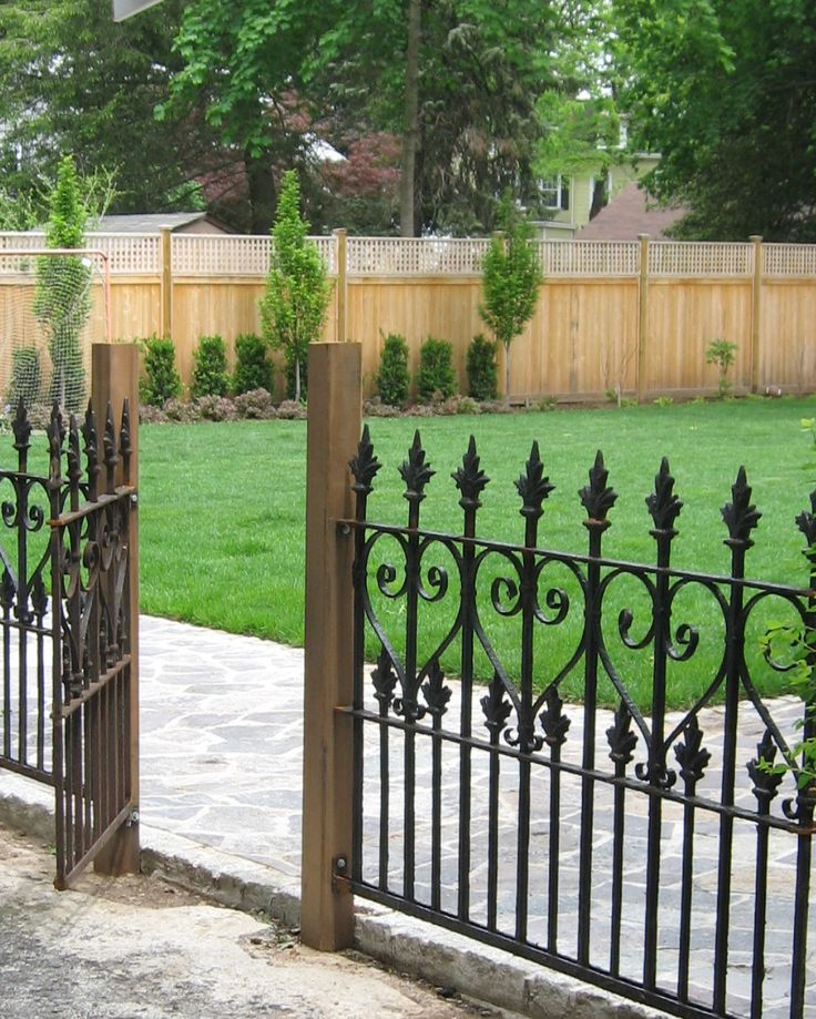 Best Wrought Iron Fence Panels Ideas On Pinterest Grill Door - 5 backyard fence types