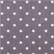 tessuto grigio dagli USA con mini pois neri 6,45