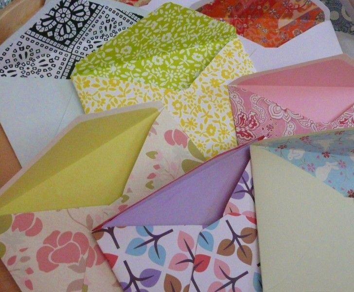 pyssel kort kuvert scrapbooking grattis tips ~ envelope inspiration