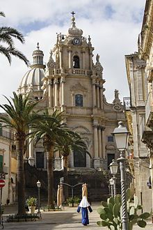Cathedral of San Giorgio - Ragusa Ibla. Where Inspector Montalbano is filmed.