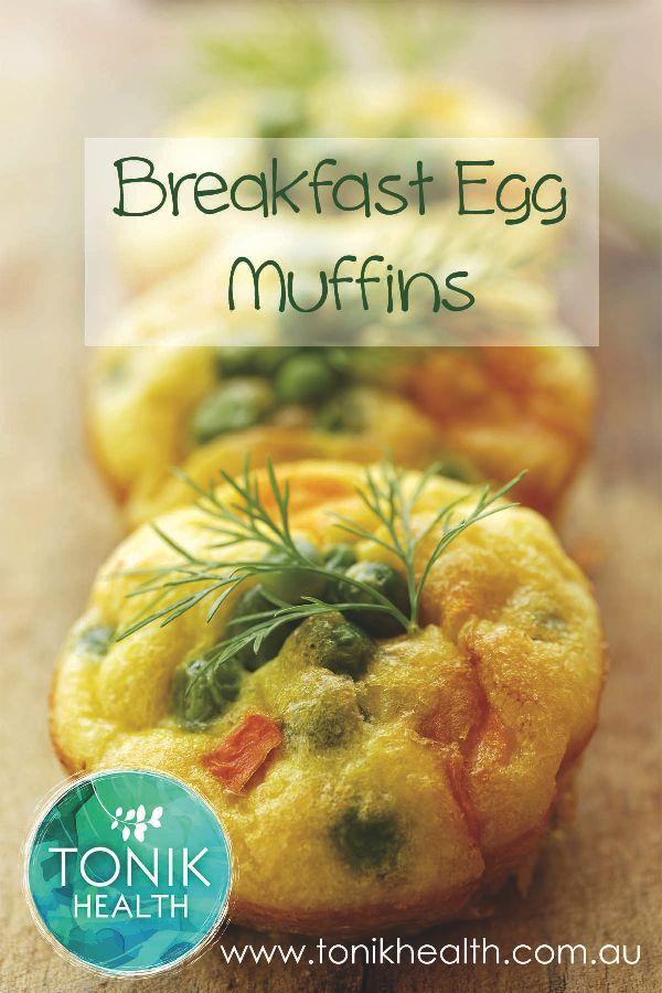 Quick and easy breakfast recipe - Breakfast Egg Muffins  https://www.tonikhealth.com.au/recipes/breakfast-egg-muffins/  #breakfast #recipe #muffins #healthy #quickbreakfast