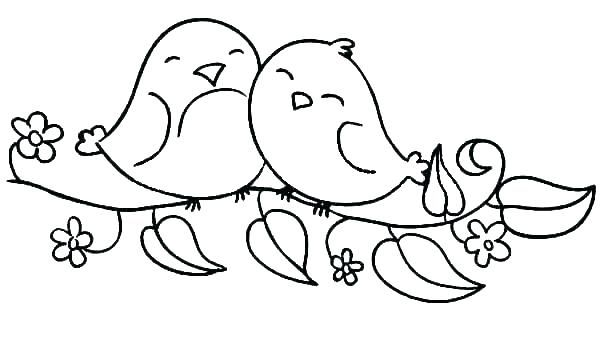 Image Result For Coloring Pages Of Cute Bird About To Leave Nest Bird Coloring Pages Love Birds Drawing Bird Template