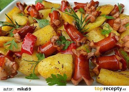 Pečené debrecínské brambory recept - TopRecepty.cz
