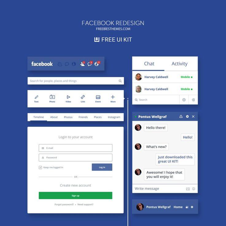Facebook Yeni Nesil PSD Tasarımı