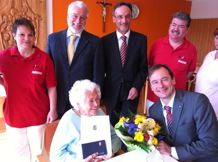 Martin Michalitsch  Alles Gute zu 100. Geburtstag, liebe Frau Schadlbauer!