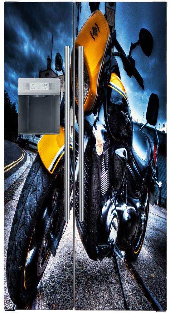 Best Vinyl Refrigerator Decals Fridge Wraps UK Vinyl - Custom vinyl decals covering for motorcycles