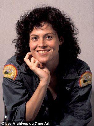 Sigourney Weaver as Ripley in hit 1979 movie Alien...