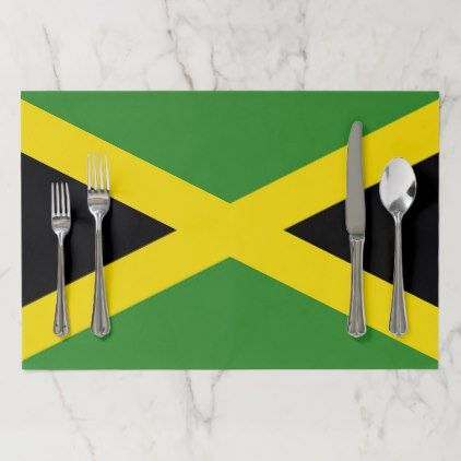 Tearaway placemat with Flag of Jamaica - home gifts ideas decor special unique custom individual customized individualized