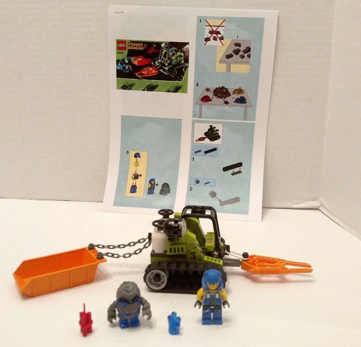 LEGO Construction Power Miners 8958 Granite Grinder 2 minifigures w/Instructions