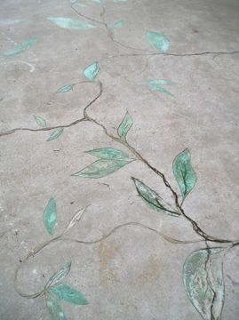 How to Carve and Stain Old Concrete