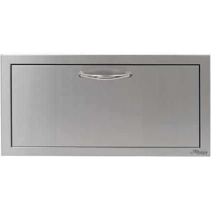 """AB-30DR 30"""" VersaPower Accessory Drawer with All-welded Stainless Steel Construction German Engineered Smooth Gliding Full Extension Slide and Polished Steel Handle in Stainless Steel"""